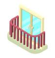 stylish balcony icon isometric 3d style vector image vector image