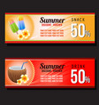 summer snack and drink discount voucher vector image