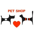 symbol of pet shop vector image