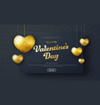 template header for sale on valentines day vector image