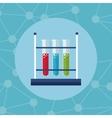 test tube rack laboratory icon vector image
