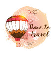 travel background with air balloon vector image vector image