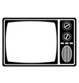 tv old retro vintage icon stock vector image vector image