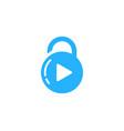 video security logo icon design vector image