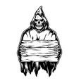 vintage monochrome halloween concept vector image vector image