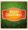 Vintage stylized red Merry Christmas label texture vector image