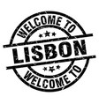 welcome to lisbon black stamp vector image vector image