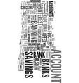 you can bank on it text word cloud concept vector image vector image