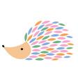 a cartoon hedgehog vector image