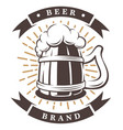 wooden cup of beer vector image