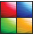 set of wave backgrounds vector image