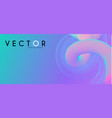 3d gradient design colorful abstract composition vector image vector image