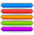 5 colorful button banner backgrounds - set of vector image vector image