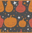 abstract seamless pumpkin pattern for grunge vector image vector image