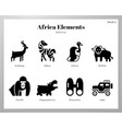 africa elements solid pack vector image