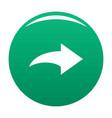 arrow icon green vector image vector image
