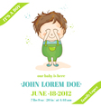 Baby Boy Arrival or Shower Card vector image vector image