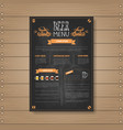 beer menu design for restaurant cafe pub chalked vector image vector image