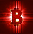 bitcoin crypto currency sign vector image vector image