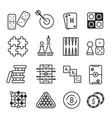board games icon set isolated on white background vector image vector image
