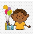 boy balloons gifts vector image vector image