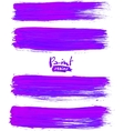 Bright violet acrylic brush strokes vector image vector image