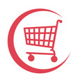 cart shopping commercial icon vector image