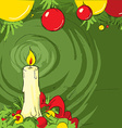 Christmas still life with a candle vector image vector image
