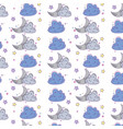 cloud and moon background cartoon vector image vector image