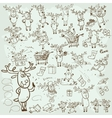collection christmas reindeer vector image