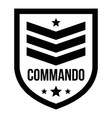 commando badge logo simple style vector image