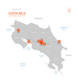 costa rica map with administrative divisions vector image