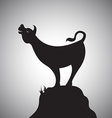 cow standing on rocks vector image vector image