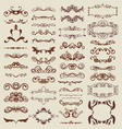 decorative vintage design elements vector image vector image