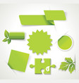 eco green natural badges labels banners stickers vector image