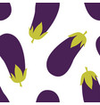 eggplant seamless pattern vector image vector image
