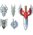 fantasy sword set vector image
