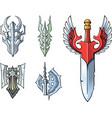 fantasy sword set vector image