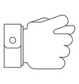 fig gesture icon outline style vector image vector image