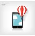 Flat air balloon web iconRealistic detalized flat vector image