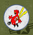 flying tiger stickers vinyl devil red bolt icon vector image