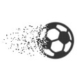 football ball destructed pixel icon vector image vector image