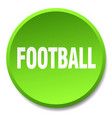 football green round flat isolated push button vector image vector image