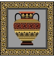 Frame and amphora with Greek ornament Meander vector image vector image