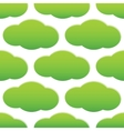Green cloud pattern vector image vector image