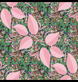 green neutral and pink pattern hand drawn vector image vector image
