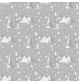 hand drawn seamless pattern of ski poles vector image