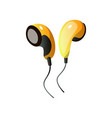 headphones are an individual device for personal vector image vector image