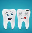 Healthy teeth and dead vector image vector image