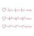 Heart beats various cardiogram set vector image